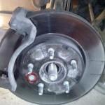 Меняем ступицу переднего колеса на Шевроле Каптива