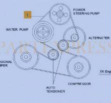 Замена натяжных роликов и ремня привода подвесного оборудования Шевроле Эпика